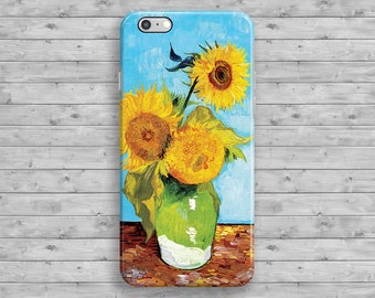 iPhone 6 Case Sunflowers Van Gogh, Floral iPhone 7 Case, Painting Art iPhone 6S case, iPhone 7 Plus, iPhone 6S Plus, iPhone 5, 4 4S 5S 5C SE