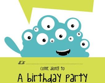 Monster Time - Printable Invitation