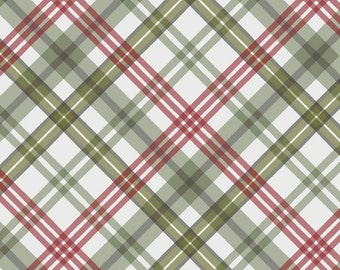 Flannel Per Yd - Romantic Afternoon - Wilmington Prints by Lisa Audit - Plaid