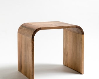 Walnut solid side table