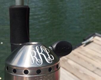 Monogram Fishing Pole Decal