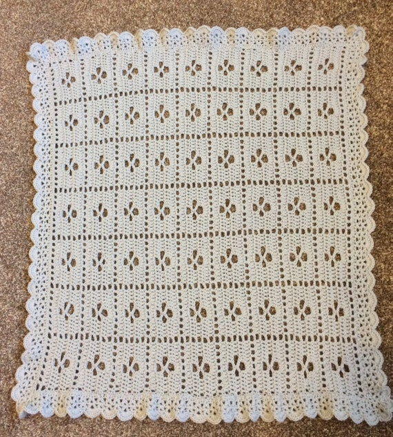 Knitting Pattern For Call The Midwife Blanket : Items similar to Crochet Call the Midwife Baby Blanket on Etsy