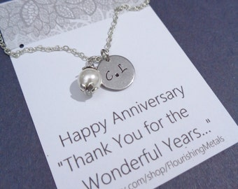 Anniversary gift for wife, girlfriend, Partner,Valentines Day gift for her, Couples necklace with couple initials