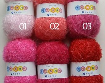 Buy 4 Get 1 Free / Eco-Friendly Scrubber Yarn / Eyelash Susemi Yarn / Handmade Dishwash Scrubbies Yarn / Korea Scrubby Yarn / Polyester 100%