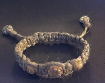 Jute rope macreme bracelet