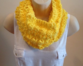Women's Yellow scarf, Endometriosis Awareness Scarf, Lacy Scarf
