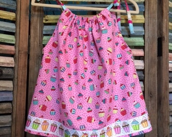 Baby Dress / Baby Summer Dress / Baby Pillowcase Dress / Size 9-12 Months
