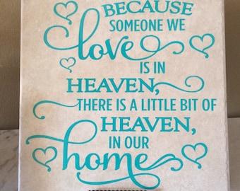 Heaven Tile, Bereavement tile, lost loved one tile, Deceased loved one memory tile, sympathy gift