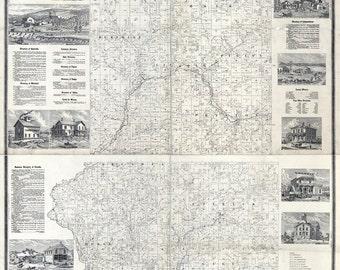 1877 Map of Trempealeau County Wisconsin