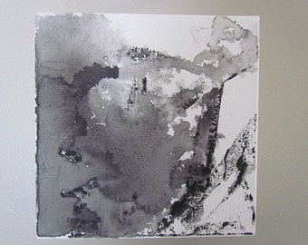 Original Abstract Painting 6x6 Stretched Canvas