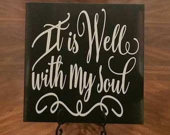 It Is Well 12x12 Porcelain tile
