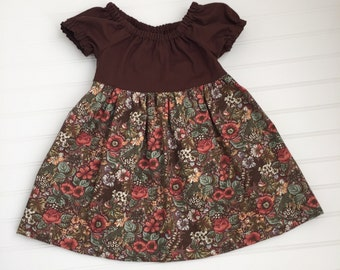 Hadley Floral Peasant Style Girls Dress