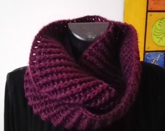 Purple neckwarmer
