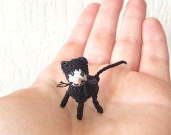 Tiny Crochet Black Cat