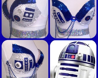 R2-D2 Rave Bra / Costume / Star Wars