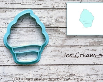 Ice cream cookie cutter / Cookie cutter Ice cream / Cookie cutter cupcake / Cupcake cookie cutter / Maffin cookie cutter / fondant cutter