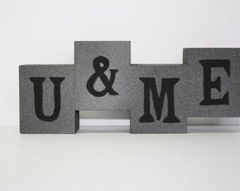 U&ME Wood Block Sign