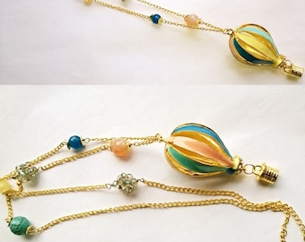 Hot air balloon necklace * Hot-air balloon necklace