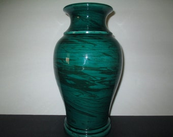 MALACHITE-LIKE GLASS Vase