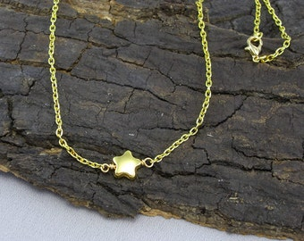 Necklace pendant Star Gold