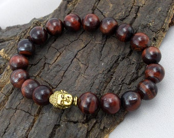 Buddha bracelet and Red Tiger eye