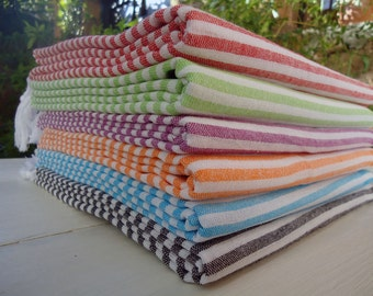 Set of 6 Turkish Towel Beach Towel Bath Towel Beach Throw Sarong Fouta Beach Wrap Cotton Throw Beach Throw Cotton Beach Towel Turkish Towel