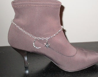 Boot Jewelry, Moon and Star
