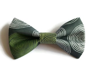 Dog bow-tie Green Circles