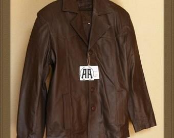 Alvaro: Light weight, Full grain Traditional Leather Jacket for Men