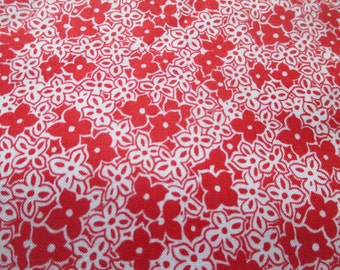 """Red & White Tudor Roses """"Rudy Black"""" By Fabric Freedom Designed in London Floral 100% Cotton Craft Fabric. Price Per Metre"""