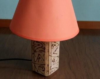 design lamp inlaid wood