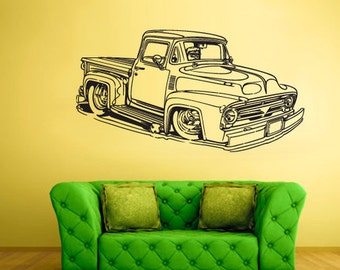 rvz1504 Wall Decal Vinyl Sticker Hot Rod Car Auto Automobile Retro Old Muscule