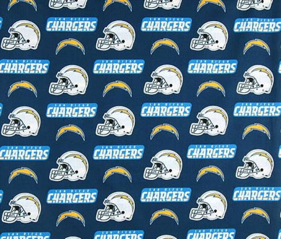 San Diego Chargers Fleece Fabric Nfl By Picotextilesdotcom