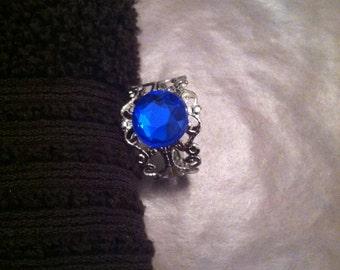 Dark blue ring