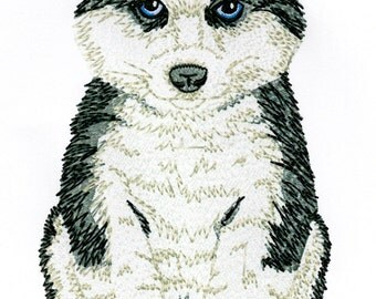 HUSKY PUPPY - Machine Embroidery Design - dog pet