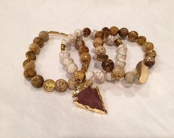 Beaded Bracelets - Set of 3