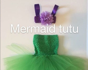 Mermaid costume, Mermaid tutu baby/toddler / tutu /
