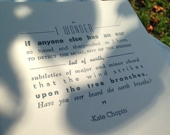 I wonder - quote from Kate Chopin