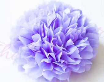 Lavender PM/ 1 tissue paper Pompoms,single pompom,nursery room decor, baby shower,wedding,birthday,engagement,bridal shower,DIY,centerpieces