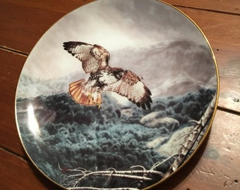 The Red Hawk Collector Plate