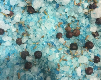 Bath salt - JUNIPER berry and LAVENDER bath salt