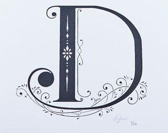 Letter D - Limited Silkscreen Art Print