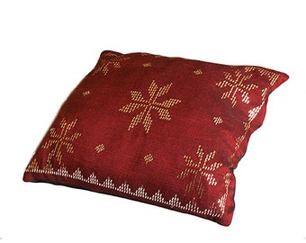 Silver Plated Hand-Stitched Linen Cushion / Pillow Cover