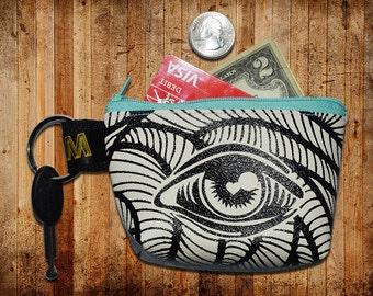 purse/pocketbook vinyl eye print