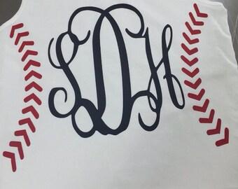 Monagram baseball/softball tank