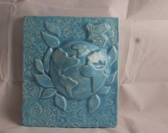 Light Blue Ceramic Earth Tile