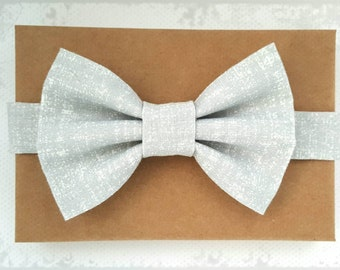 Distressed Gray Bow Tie