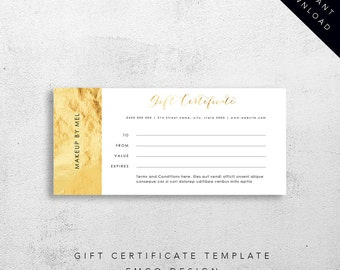 Gift Certificate Template | Instant Download | Editable MS Word Template
