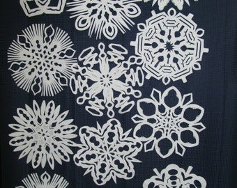 Hand Crafted Paper Snowflakes