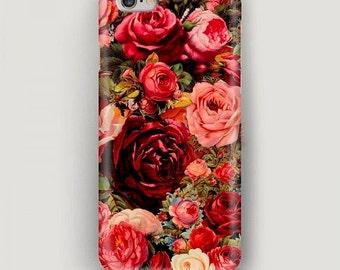 Pink Roses iPhone 6 Plus Case, iPhone 6 Case, Flowers iPhone 5s Case, iPhone 5c Case, iPhone 4 Case